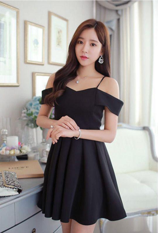 5eb4567b24bdf Off Shoulder Party Dress | Korean Fashion