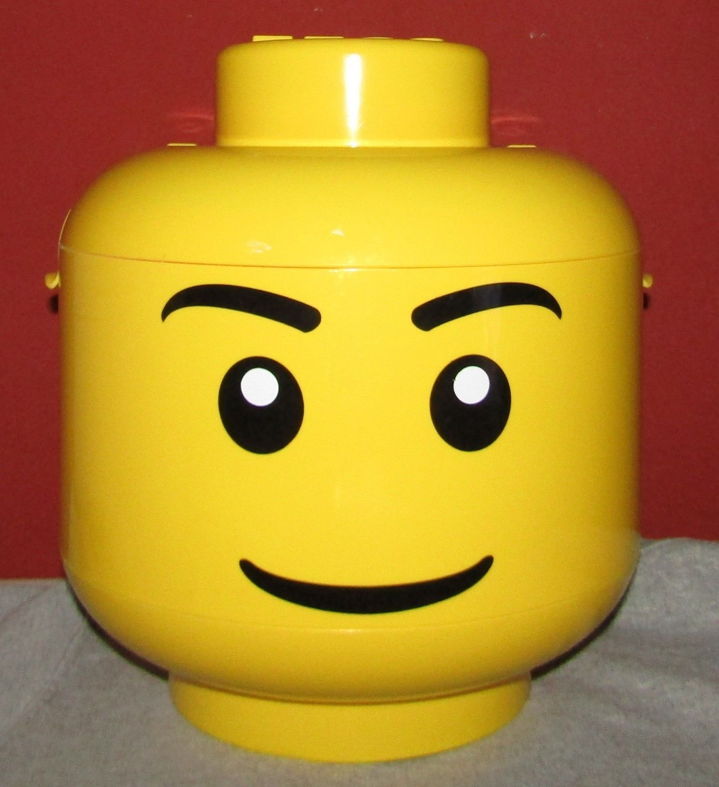 Large Lego Head Storage Container / Sorter With Two Trays And Handle  sc 1 st  Pinterest & Large Lego Head Storage Container / Sorter With Two Trays And Handle ...