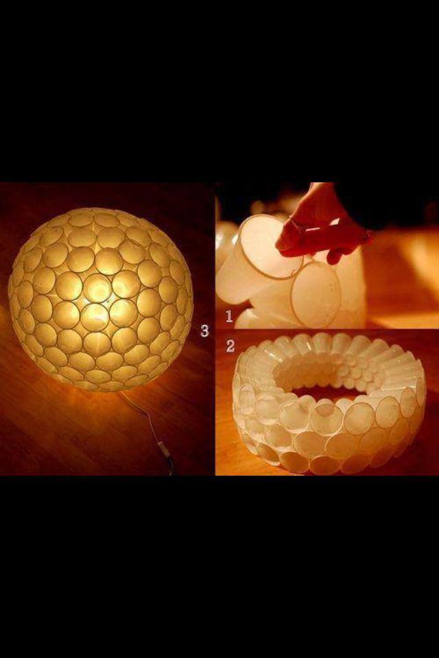 Lampe Aus Plastik Becher Lampen Basteln Basteln Mit