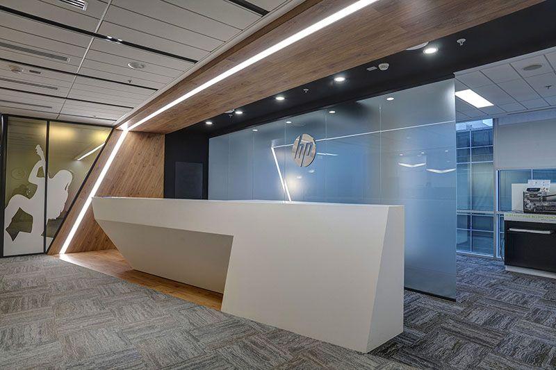 Hewlett packard enterprise hp inc officenext reception balc for Commercial furniture interiors inc