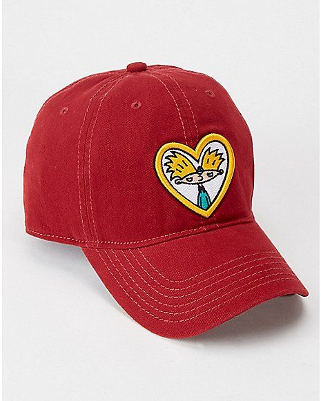 outlet store 5efcc 41a3c Heart Hey Arnold Dad Hat - Nickelodeon - Spencer s