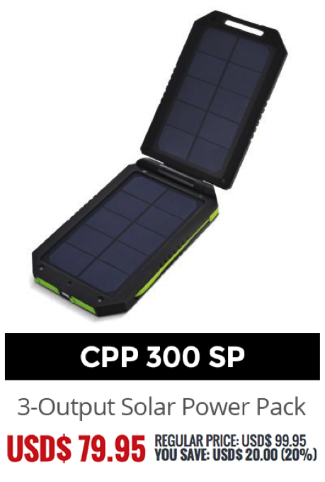 Essentials For Your Bug Out Bag Cobra Solar Power Cpp 300 Sp Battery Pack Will Keep You Charged Up Without Needing To Plug I Bug Out Bag Solar Power
