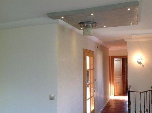 un caisson lumineux pour cacher le raccord plafond deco
