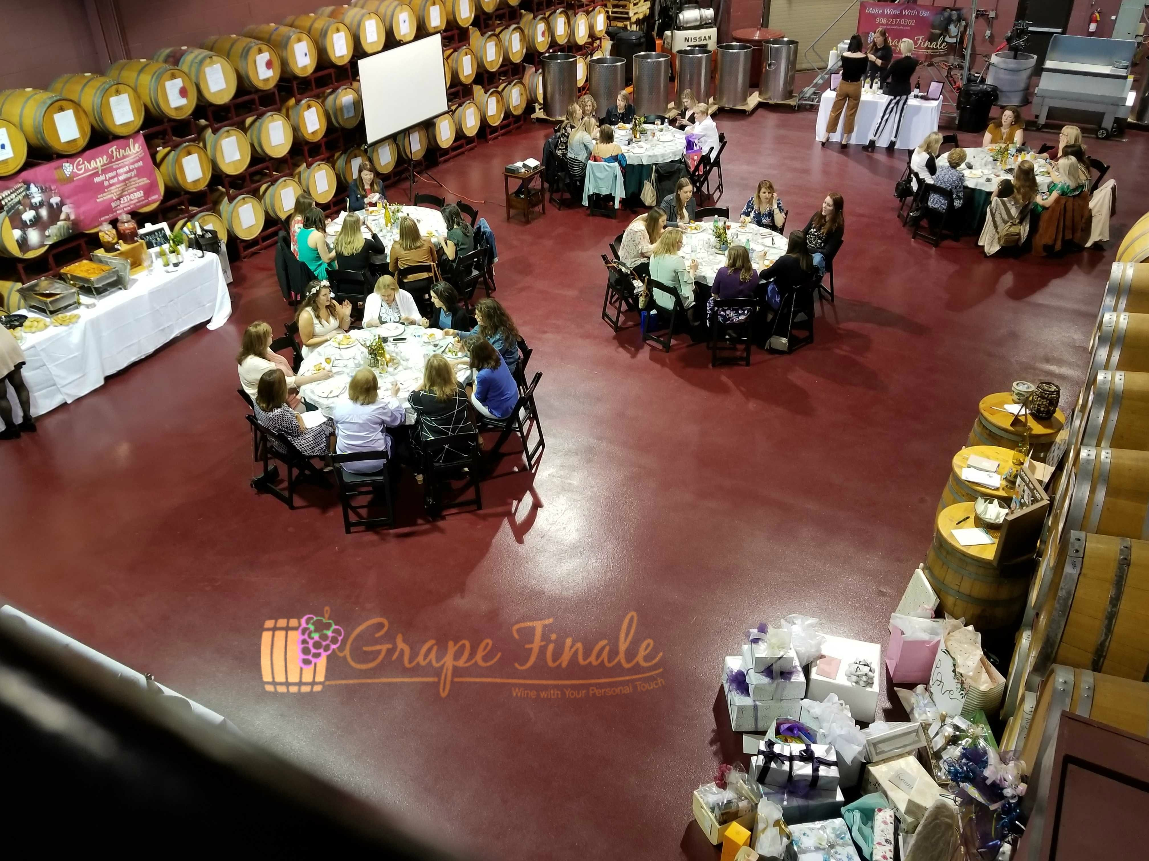 Pin By Grape Finale Hands On Winery On Hanna S Outdoors Themed Bridal Shower Event Hosting Food Themes Make Your Own Wine
