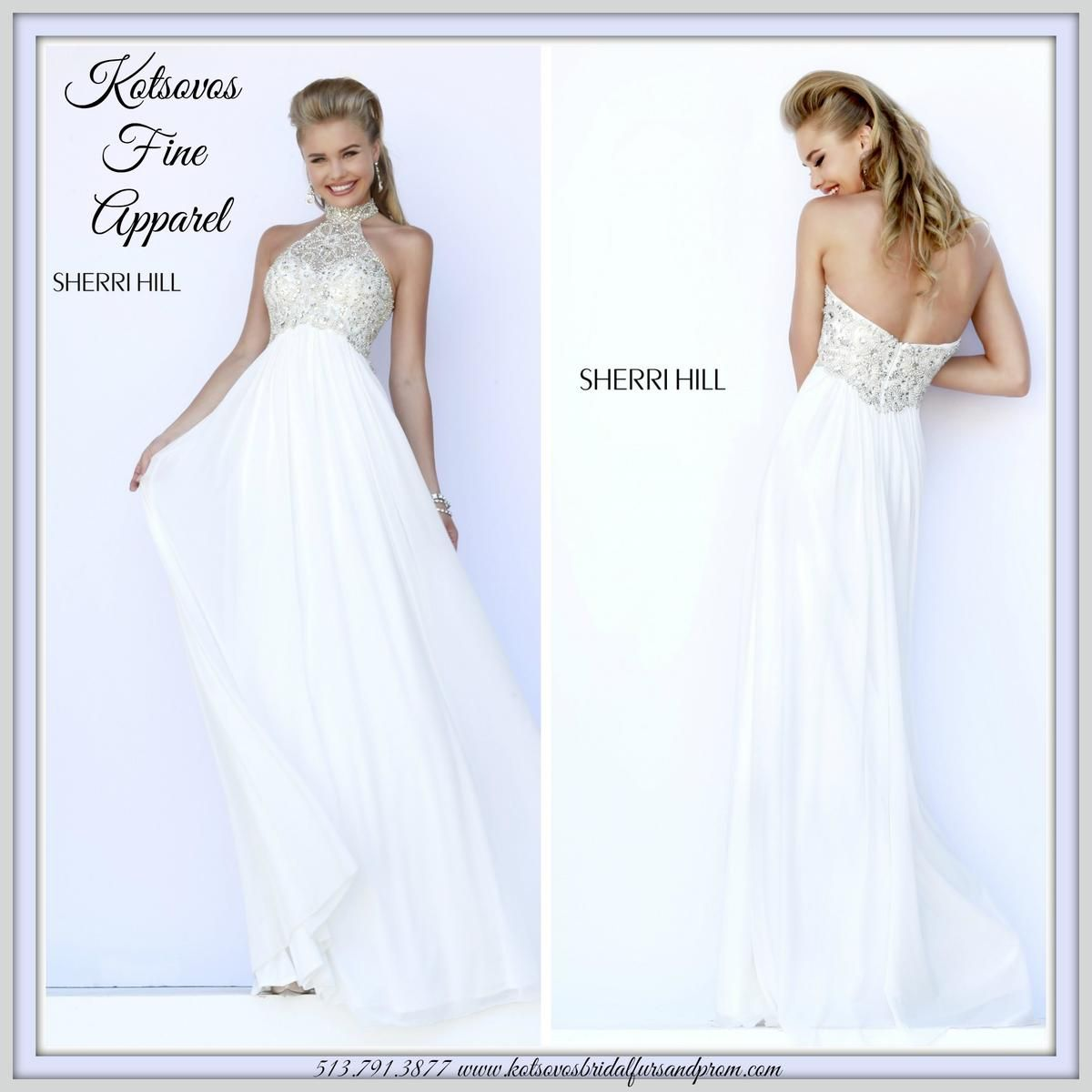 This opulent white gown is ideal for the nontraditional bride or