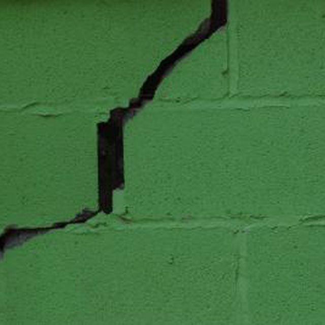 Save Money By Repairing Cracked Cinder Blocks Yourself Cinder Block Walls Concrete Block Walls Repair Cracked Concrete