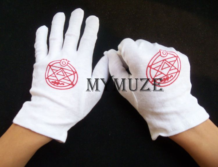 White Fullmetal Alchemist Colonel Roy Mustang Edward Elric Cosplay