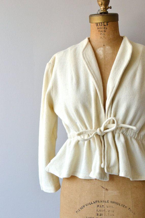 Marton wool jacket vintage 50s wool wrap jacket by DearGolden