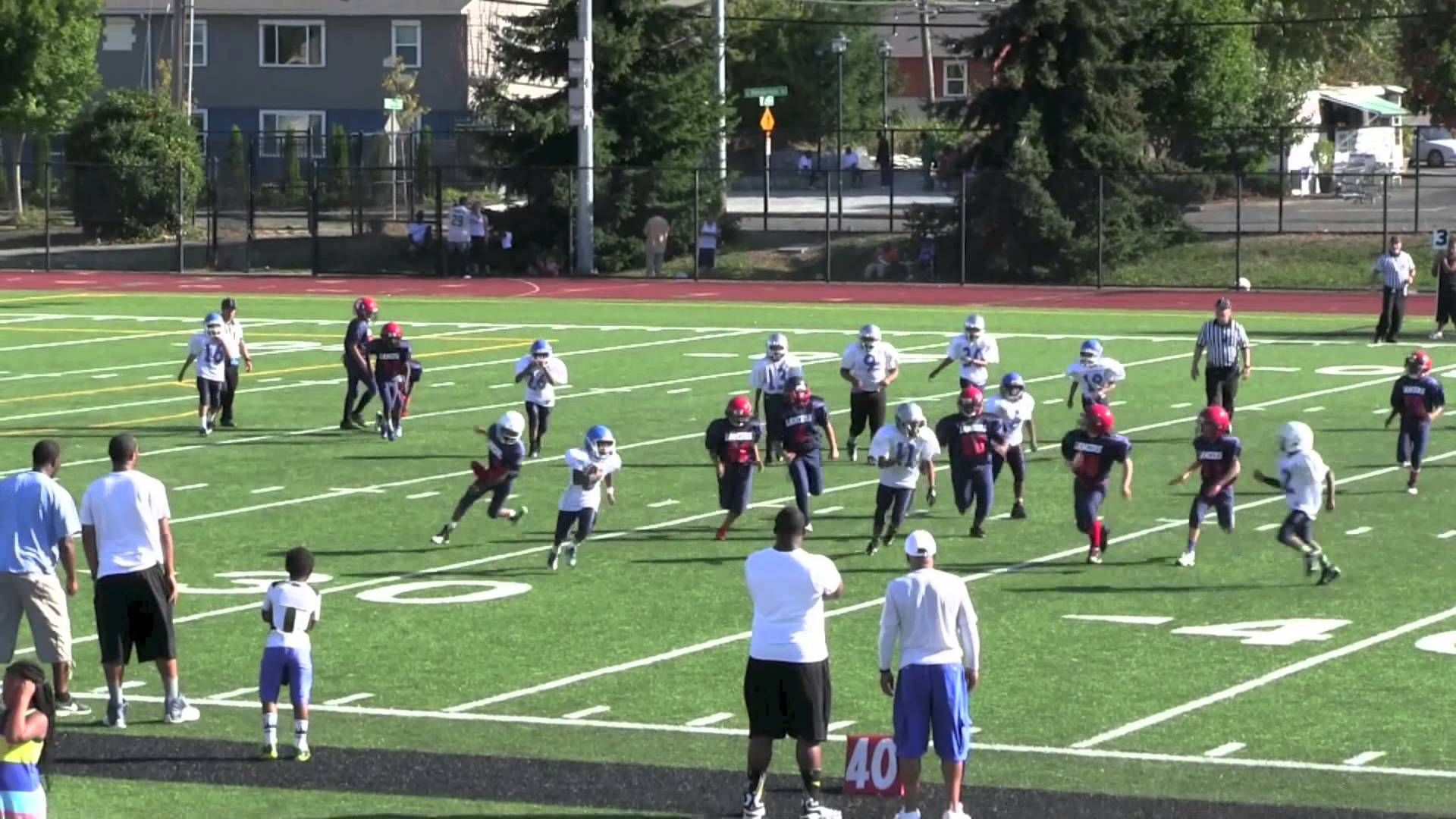 Puget Sound Lancers 48 vs Seattle Jr. Seahawks 6 (September 7, 2014)