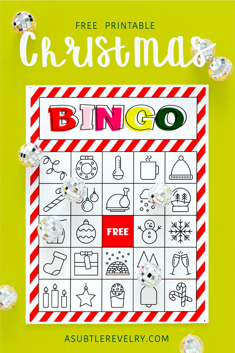 This is a picture of Free Printable Christmas Bingo Cards for Large Groups for language arts