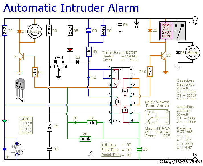 Schematic Diagram Alarm Systems For Home Home Security Systems Wireless Home Security Systems
