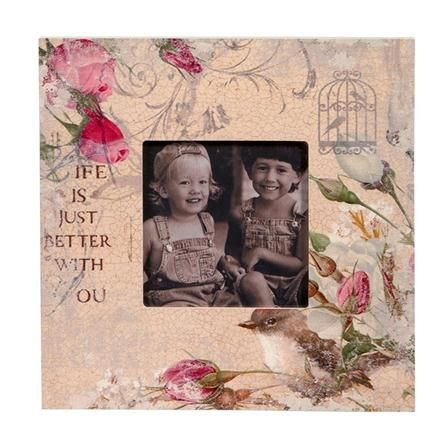 La Vie En Rose Vintage Picture Frame