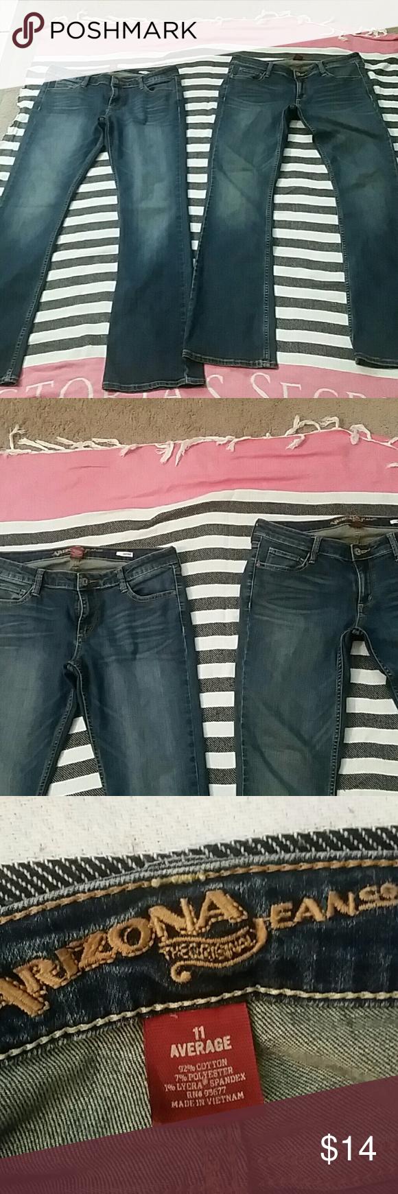 2 Pair Jeans Arizona Jeans Bootcut Arizona Jean Company Jeans Boot Cut