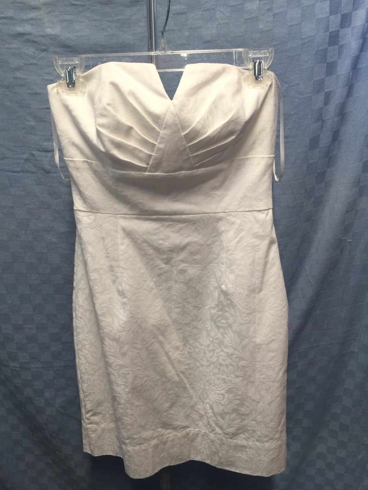 Awesome amazing white house black market strapless bustier evening