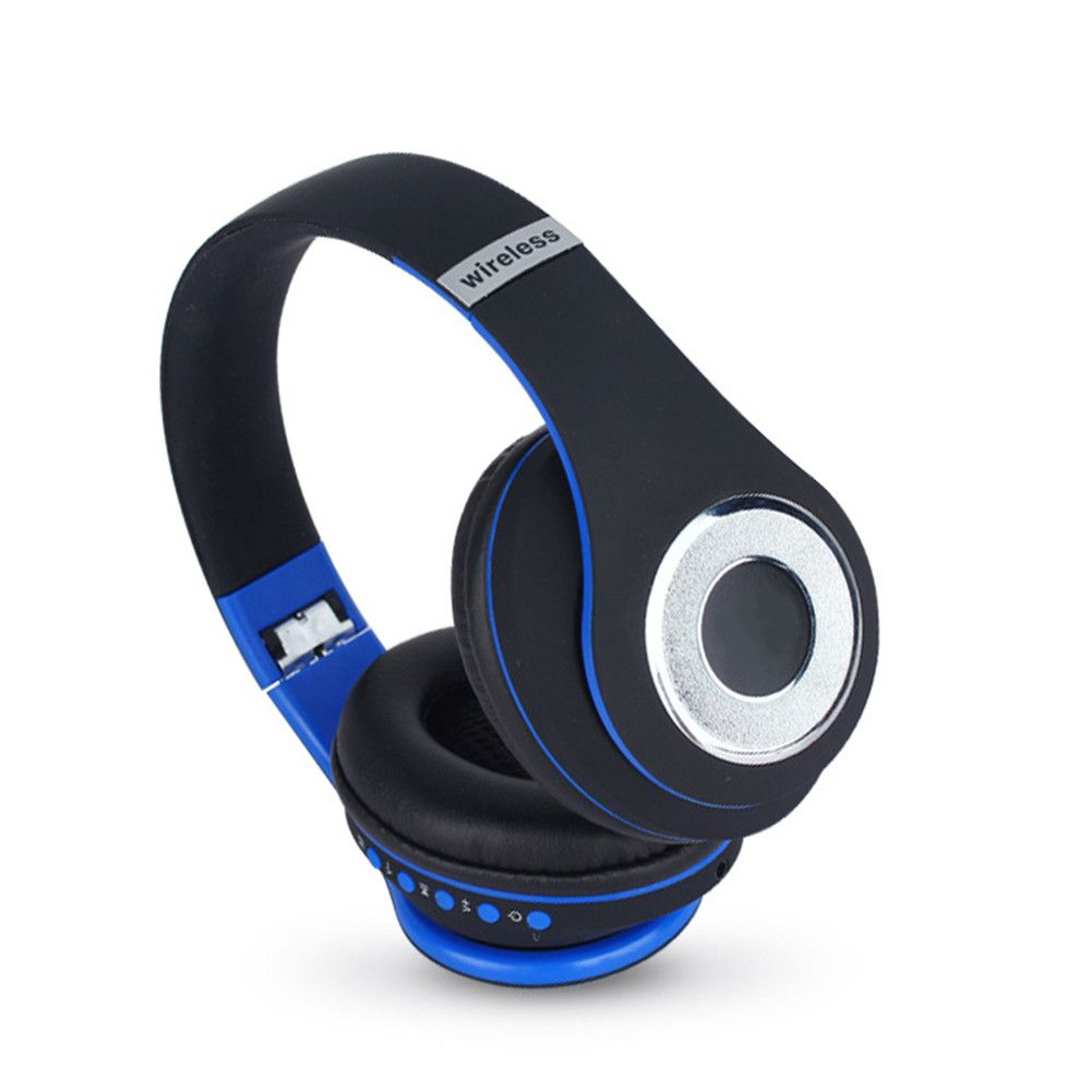 6bad01ac594 Stereo Handsfree Headfone Casque Audio Bluetooth Headset Big Earmuff Cordless  Wireless Headphone for PC Aux Head Phone Set