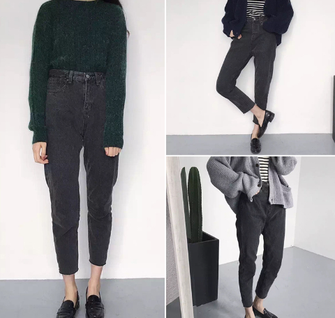Black Boyfriend Jeans – Shop Kozy | Denim - ♥ | Pinterest ...