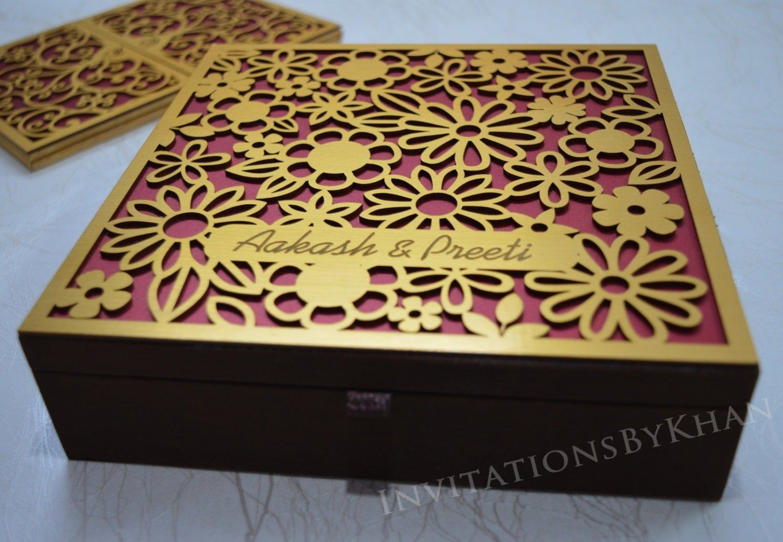 Invitation box wedding invitation silk invitation box