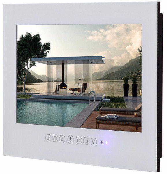 Soulaca 22inch Frameless Waterproof Led Tv For Bathroom Hotel T220fn Black White Tv In Bathroom Waterproof Led Led Tv