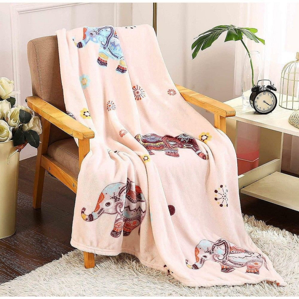 Goodgram Bohemian Elephant Ultra Plush Soft Cozy Fleece Throw Blanket Pink In 2021 Fleece Throw Fleece Throw Blanket Throw Blanket