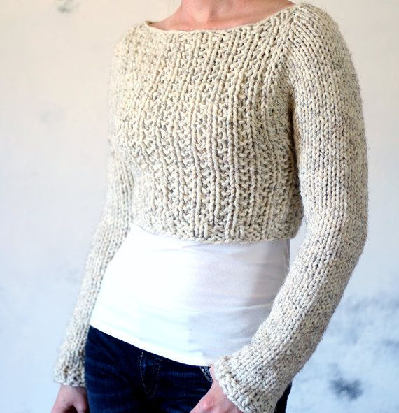 7b219fbd9 Crop Top Sweater Knitting Pattern - instruction on how to knit ...