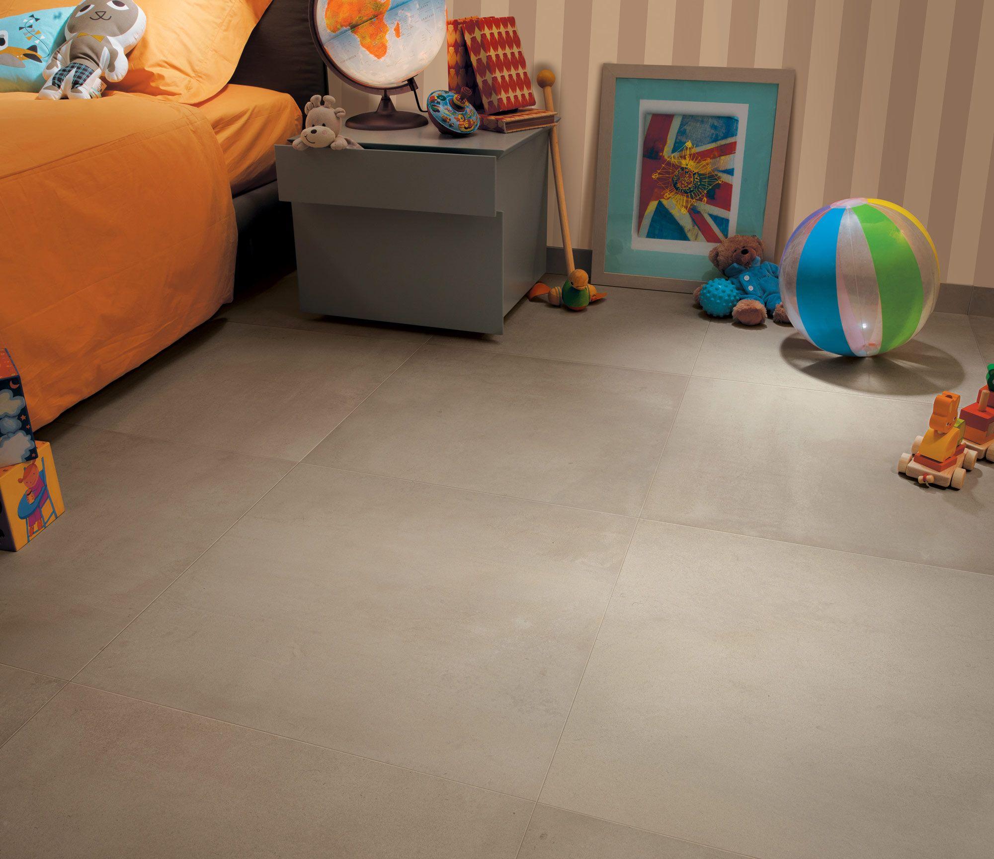 Carrelage aspect ciment Azimut by Novoceram chambre enfant