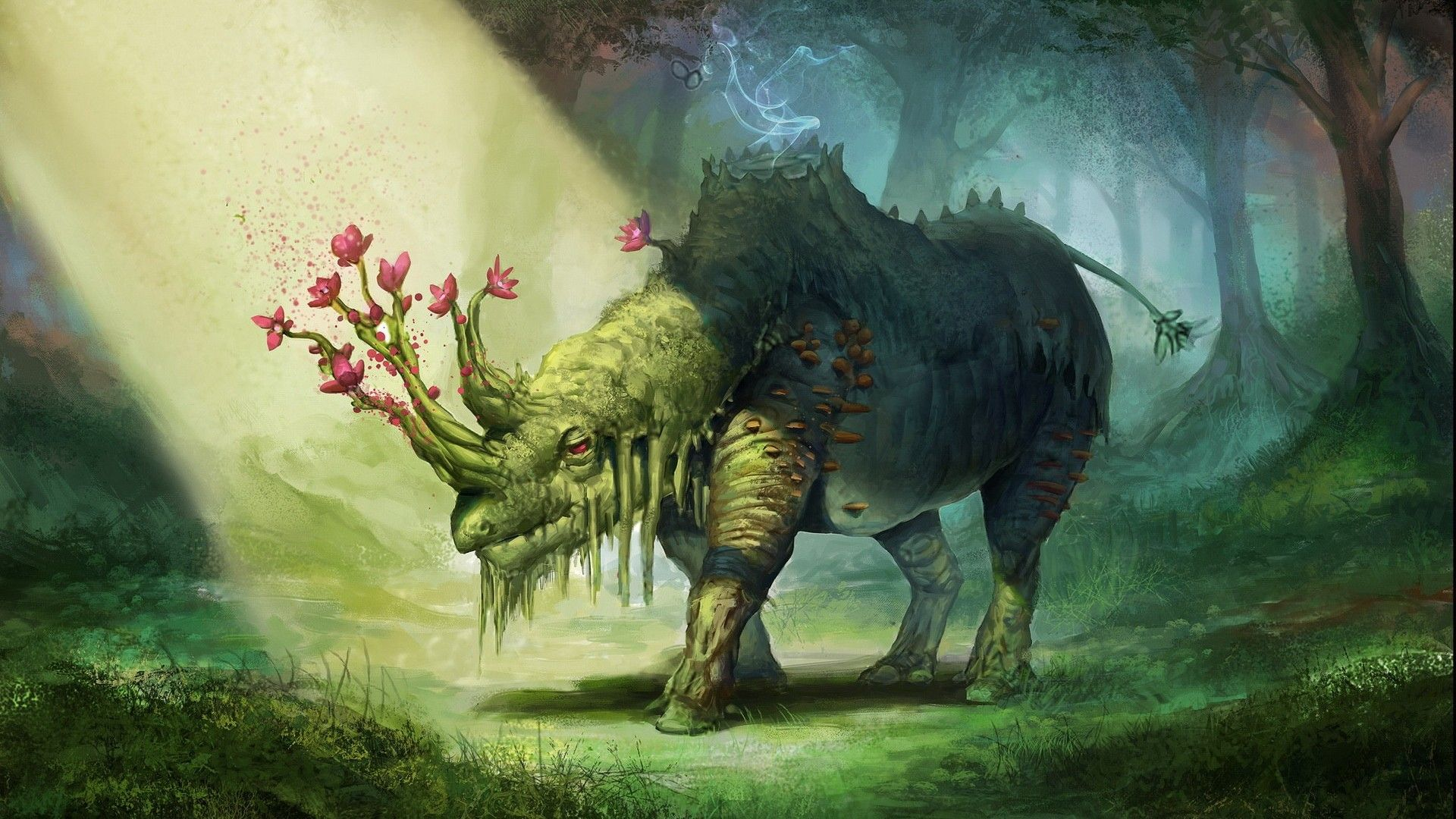 1837934 Jpg 1920 1080 Concept Art Creature Art Fantastique Art Rhinoceros