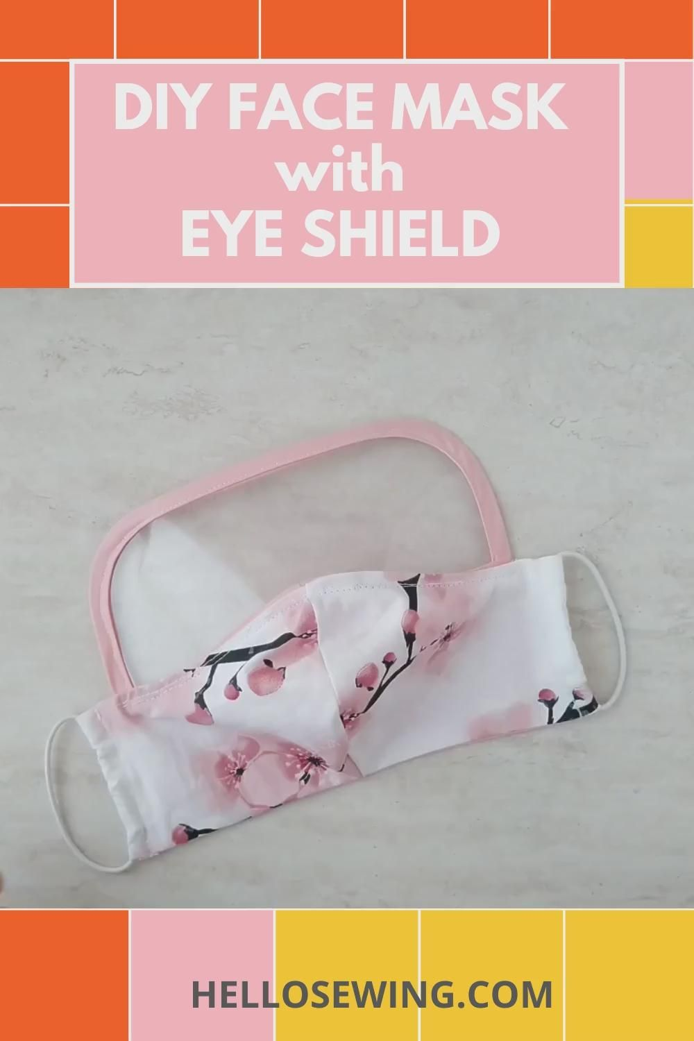 Diy Face Mask With Eye Shield Level Up Your Protection Now Video In 2020 Diy Face Mask Diy Face Mask