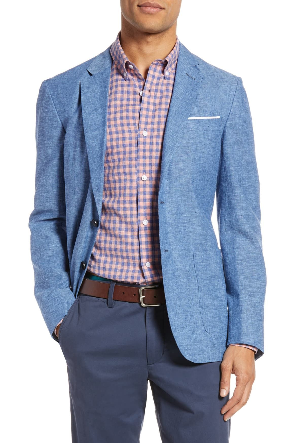 1901 Extra Trim Fit Chambray Sport Coat Nordstrom