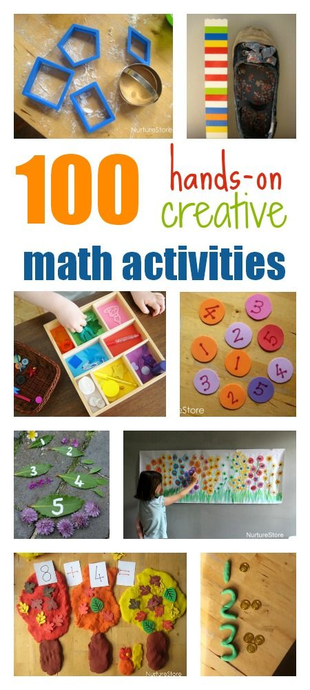 100 hands-on, creative math activities for kids   Pre ...