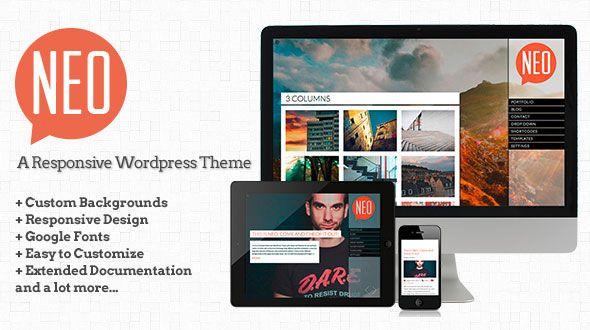 NEO – A responsive Fullscreen WordPress Theme   Responsive WordPress ...