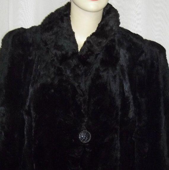 Vintage Hudson Seal Fur Jacket Coat Car Length Womens Genuine ...