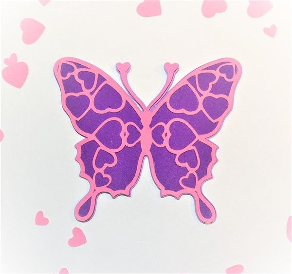 Three Layered Heart Butterfly Template  Butterfly Template