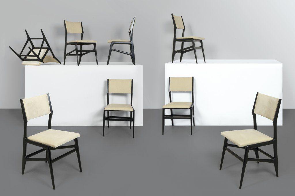 Sedie Antiquariato ~ Lot : gio ponti un insieme di otto sedie per cassina circa 1955