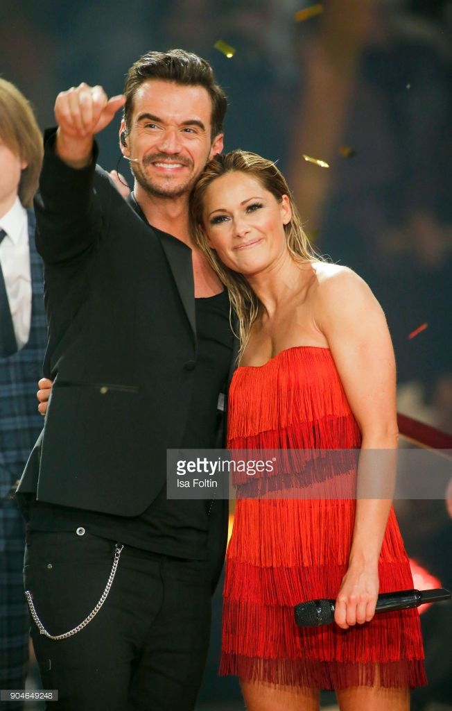 German Singer And Presenter Florian Silbereisen And His Girlfriend