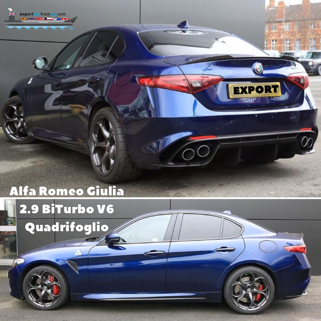 new alfaromeogiulia is availble for export now. Contact