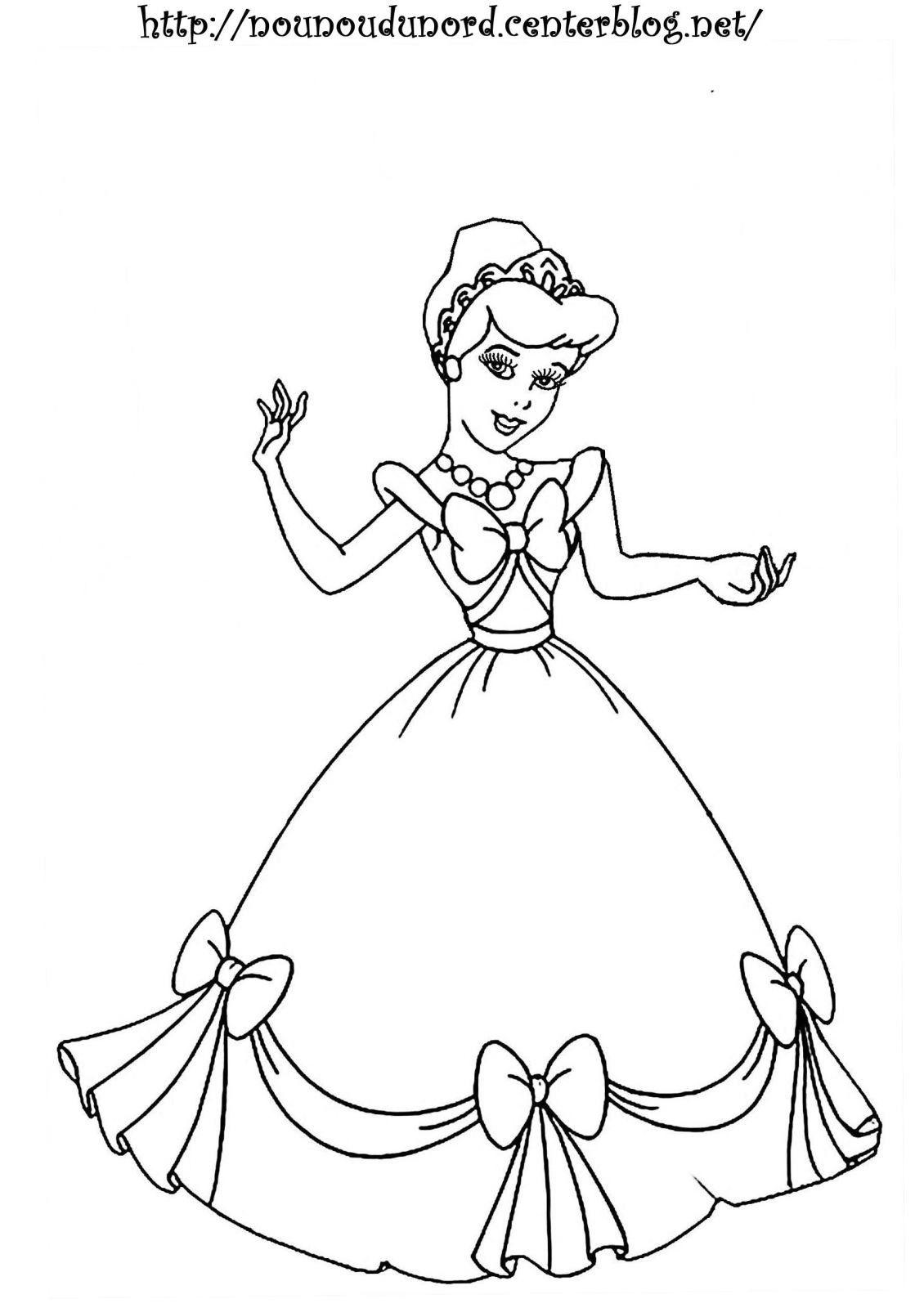 Coloriage De Princesse Disney Gratuit A Imprimer  Princess