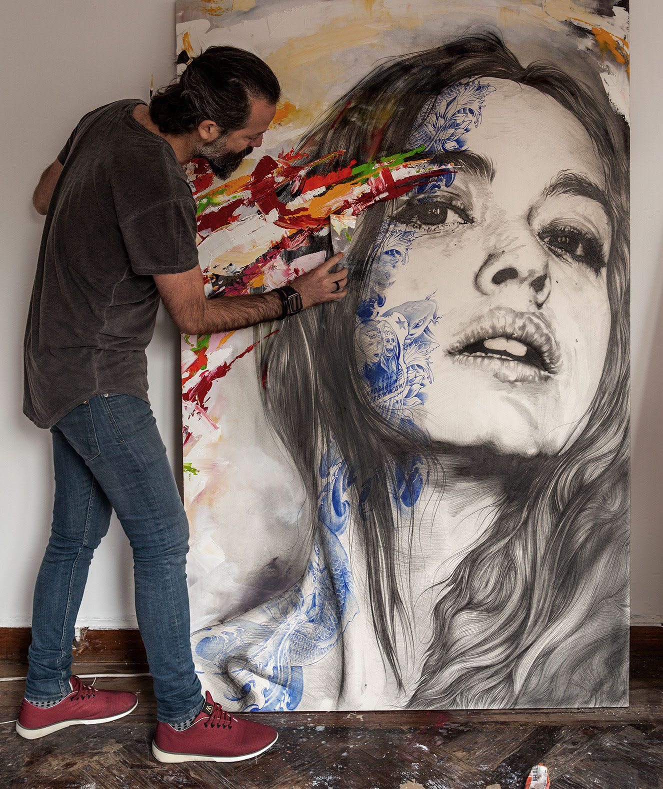 Gabriel moreno on behance oil painting portraits art oil paintings painting drawing