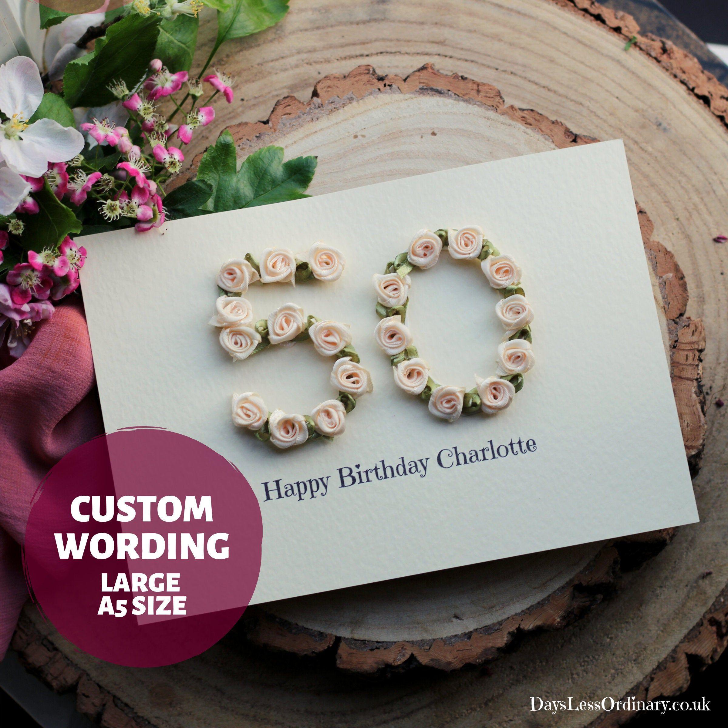 Luxury 45th Birthday Card Sister Personalised 46th Birthday Etsy Birthday Cards For Women Birthday Cards Birthday Cards For Mum