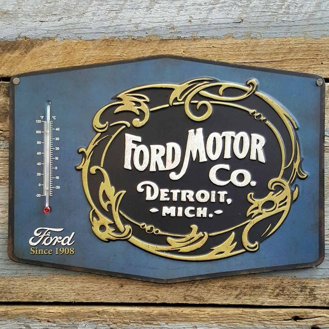 Ford Thermometer Sign Vinis Retro E Detroit