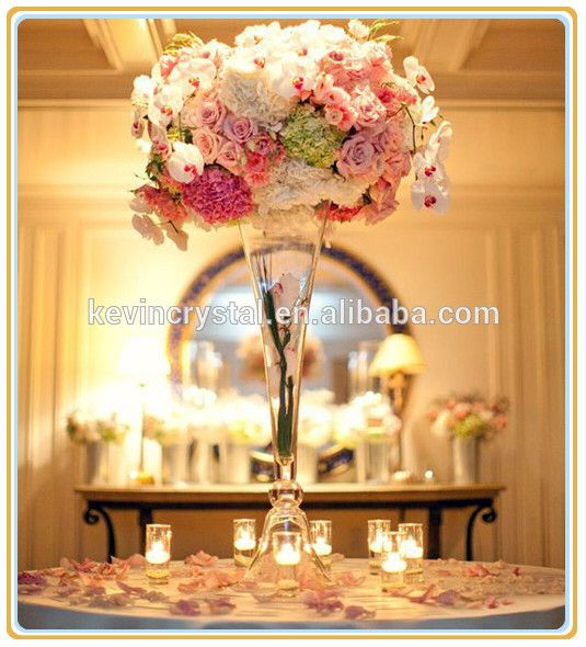 Check out this product on alibaba app trumpet glass vase for source trumpet glass vase for party eventscrystal glass flower vases for wedding table centerpieces on mibaba junglespirit Images