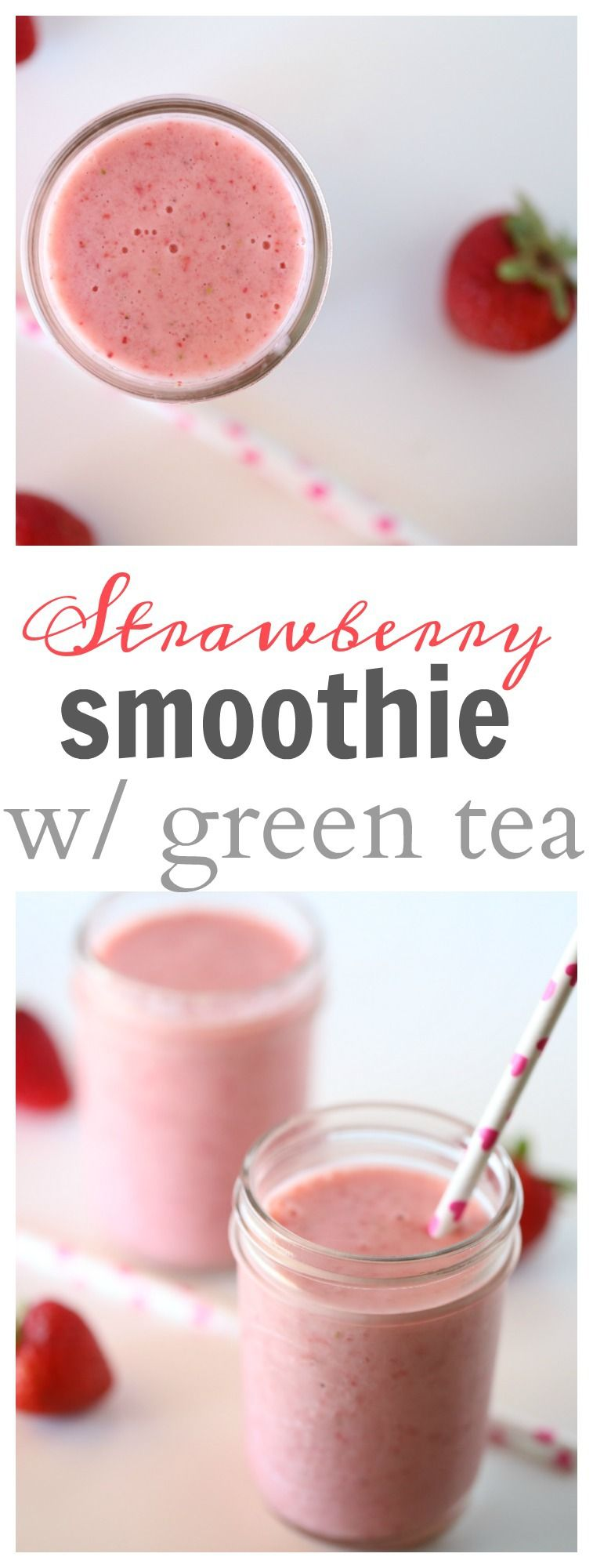 Photo of Strawberry Smoothie with Green Tea