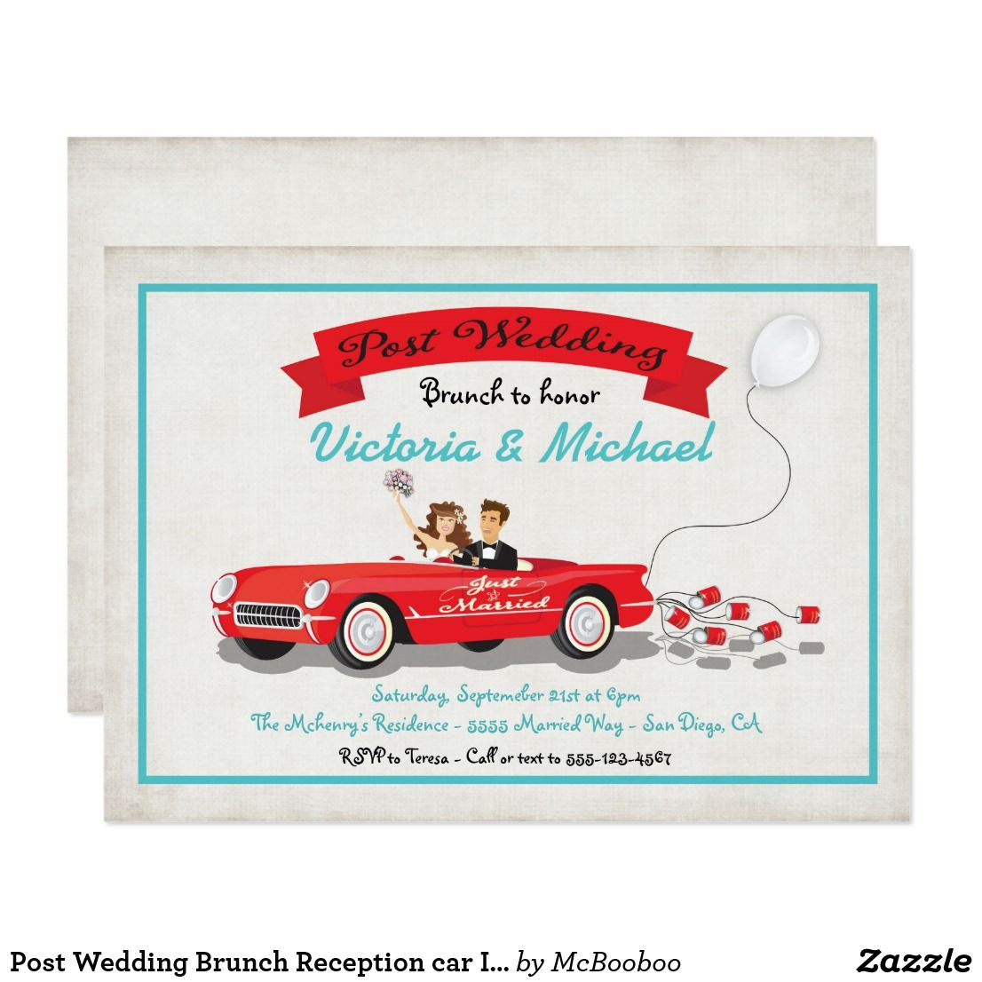 Post Wedding Brunch Reception car Invitation | Pinterest | Wedding ...