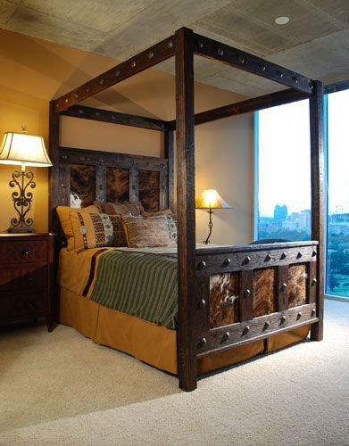 Beautiful Western Cowhide Bed Frame
