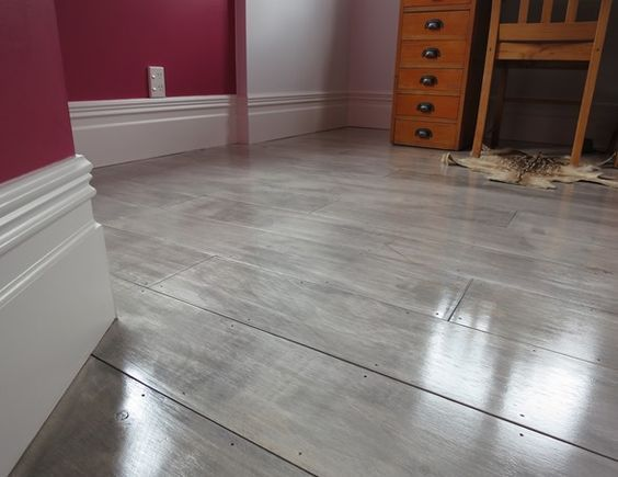 painting concrete bedroom floors. i ❤ light flooring ❗ gray painted plywood plank floors am so doing this.replacing my carpet over the concrete floor in home gym. painting bedroom