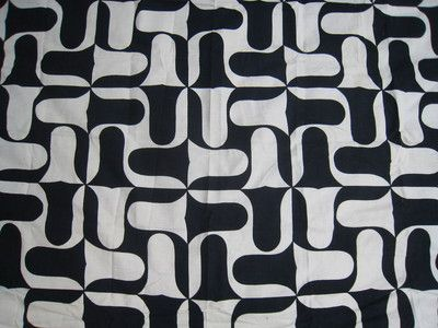 Mid Century Printed Linen Offered by Esoterique