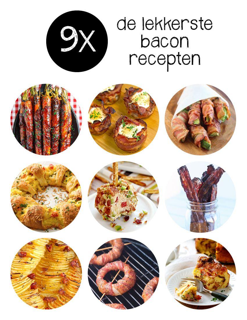 Je hebt van die ingrediënten die multi-inzetbaar zijn. Bacon bijvoorbeeld. Doet het goed in ontbijtrecepten, maar ook als bijgerecht en verwerkt in lekkere hapjes. Tijd om de lekkerste bacon recepten op een rij te zetten!