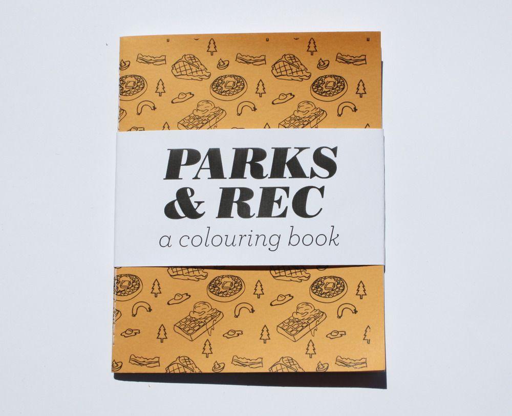 parks and rec a mini colouring book www teamart ca team art