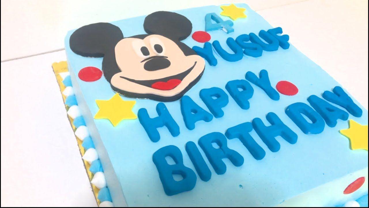 تزيين كيكة ميكي ماوس Cake Birthday Cake Desserts