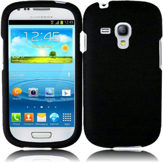 super popular 32bf1 67ec0 Amazon.com: For Samsung Galaxy S3 Mini i8190 Hard Cover Case Black ...