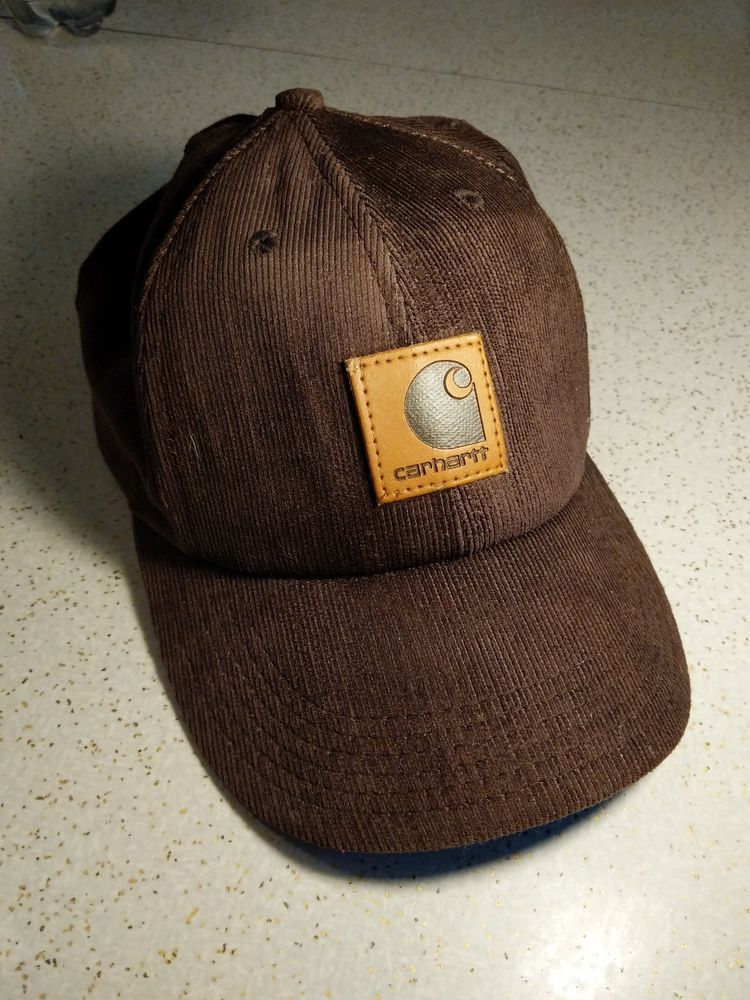 Vintage Carhartt dark Brown Tan logo patch Corduroy Snapback Hat Made in  USA EUC  Carhartt  BaseballCap 0bac6ee6f63